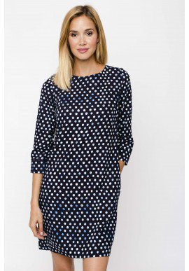 Dress Russia Printed Navy Pois