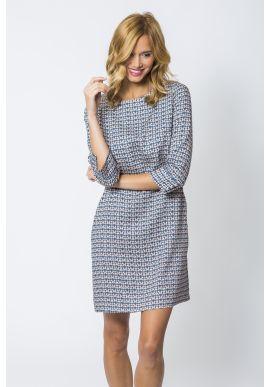 Dress Russia Printed Blue