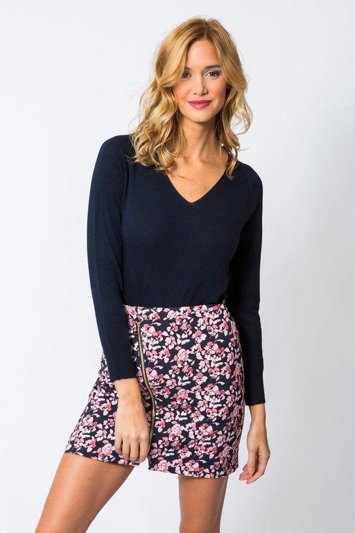 Skirt Jaures Printed  Navy