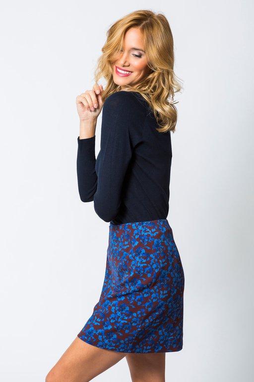 Skirt Jaures Printed  Burgundy