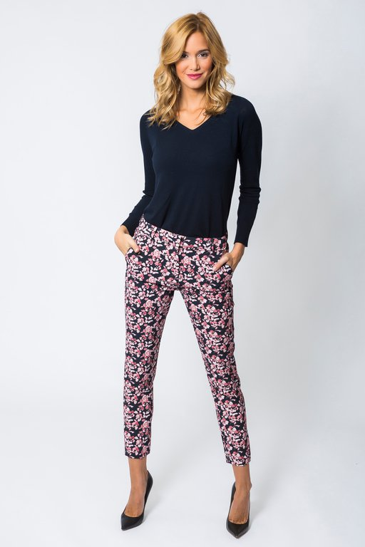 Trousers Pintor Printed  Navy